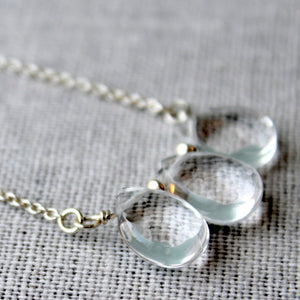 Sterling Silver Rock Crystal Necklace