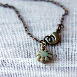 Brass Bee Nature Lover Necklace