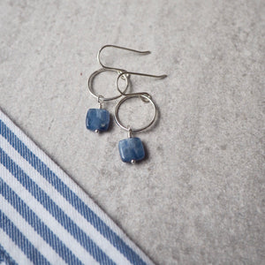 Blue Denim Kyanite Gemstone Earrings
