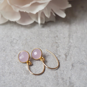 Pink Gemstone Earrings by Nancy Wallis of Wallis Designs