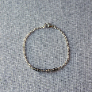 Delicate Crystal Bracelet and Sterling Silver