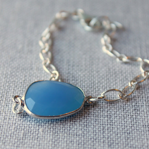 Blue Gemstone Bracelet by Nancy Wallis Designs