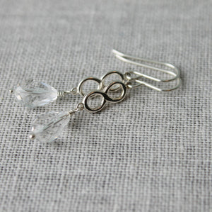 Clear Crystal Sterling Silver Earrings