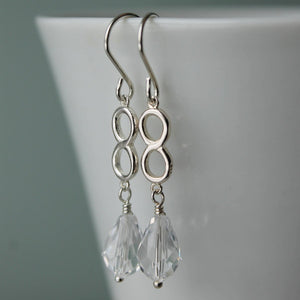 Clear Crystal Wedding Earrings