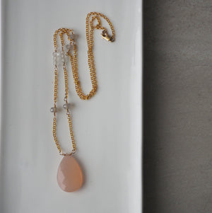 Nourish Your Soul Pink Chalcedony Necklace