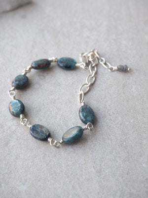Kyanite Gemstone Bracelet by Wallis Designs in Canada