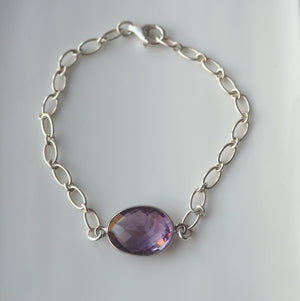 Amethyst Gemstone Bracelet by Wallis Designs in Canada