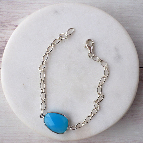 Peaceful Moment Blue Chalcedony Bracelet
