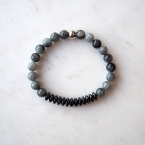 Handsome Men's Stone Stretch Bracelet