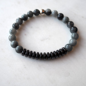 Eagle Eye and Hematite Stone Bracelet