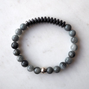 Grey Stone Bracelet for the Urban Rugged Man
