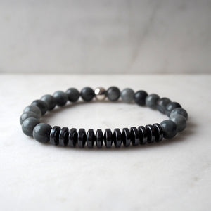 Rugged Men's Bracelet in Grey Stone by Wallis Designs