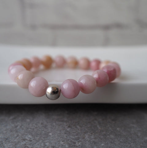 Pink Stone Bracelet with feminine strength