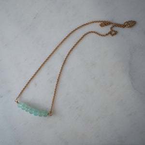 Summer Isle Chalcedony Necklace