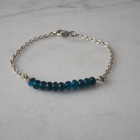 Blue Lake Gemstone Bracelet