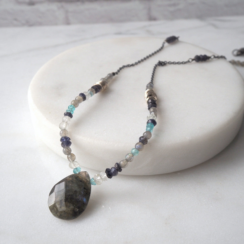 Rugged Shores Labradorite Necklace