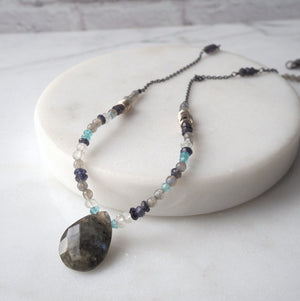 Rugged Shores Labradorite Necklace (172)