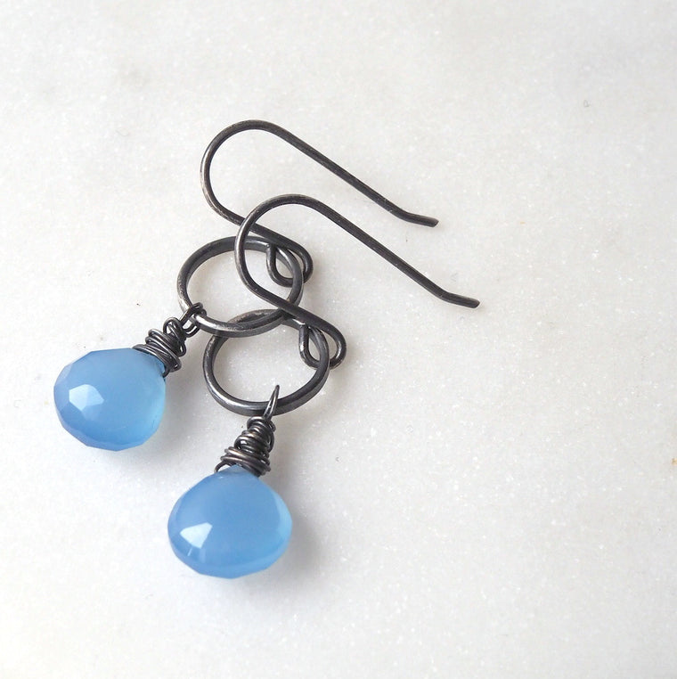 Weekend Blue Gemstone Earrings (191)