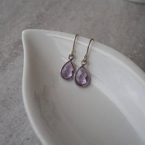 Purple Gemstone Earrings by Nancy Wallis Designs