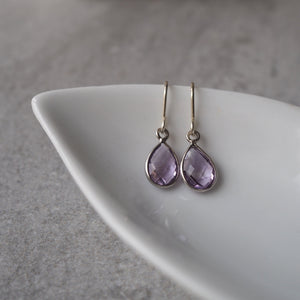 Amethyst Teardrop Earrings by Nancy Wallis Designs