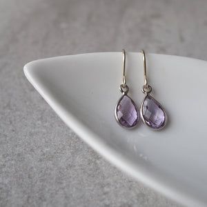 Amethyst Gemstone Earrings by Nancy Wallis Designs