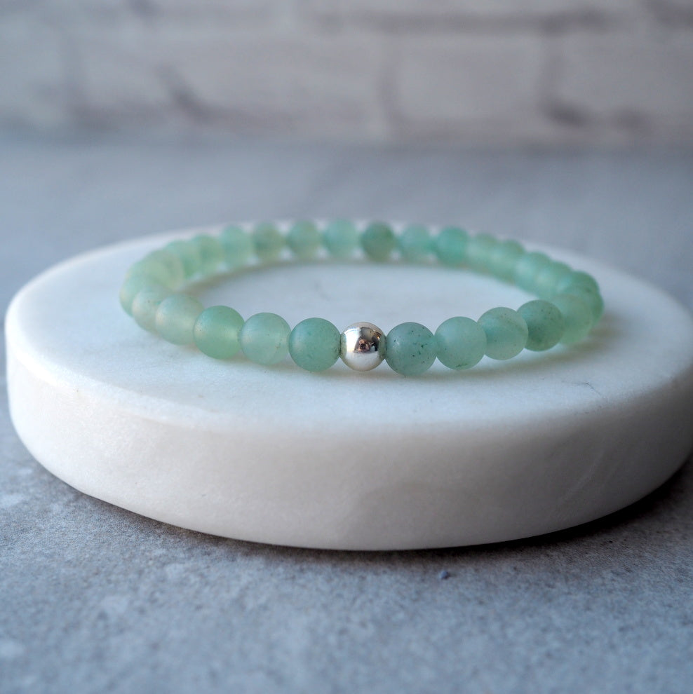 Green Aventurine Stretch Bracelet by Wallis Designs