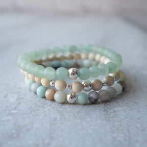 Stacked Gemstone Bracelets by Wallis Designs