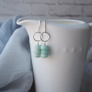 Gemstone Earrings with Amazonite by Wallis Designs
