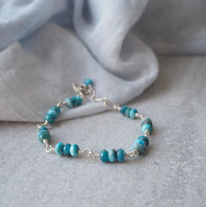Blue Gemstone Bracelet in Sterling Silver by Wallis Designs