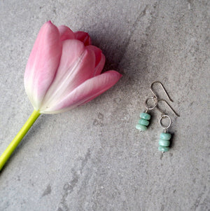 Amazonite Drop Earrings by Nancy Wallis Designs