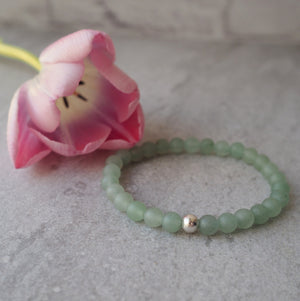 Aventurine Gemstone Bracelet with sterling silver