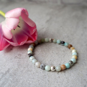 Black Gold Amazonite Bracelet with Sterling Silver