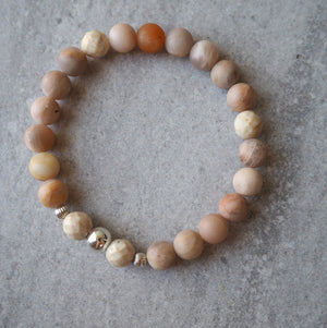 Barefoot Sunstone Bracelet by Nancy Wallis Designs