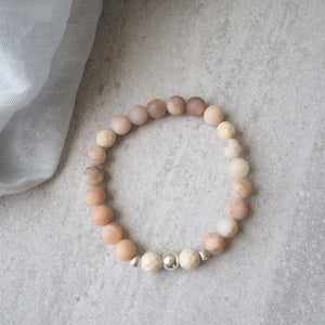 Summer stretch stone bracelet by Nancy Wallis Designs