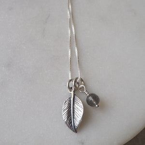 Sterling Silver Leaf Necklace by Wallis Designs