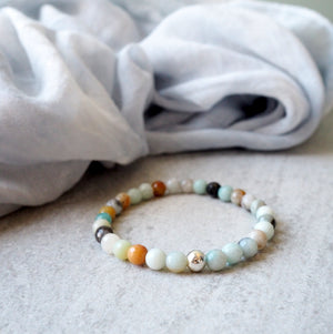 Amazonite Stone Bracelet by Nancy Wallis Designs