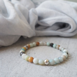 Amazonite Gemstone Bracelet with Sterling Silver