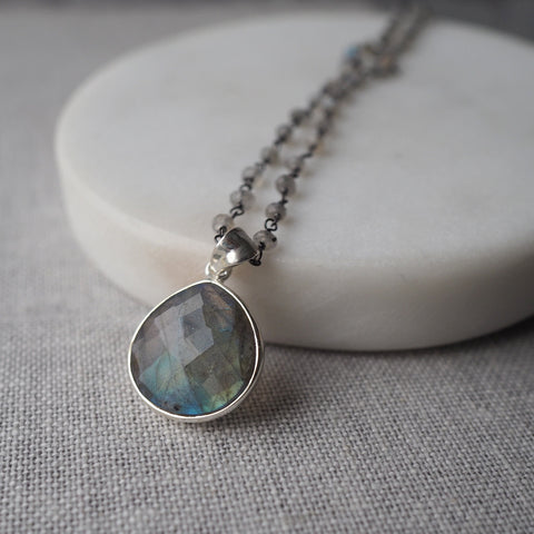 Labradorite gemstone necklace by Wallis Designs
