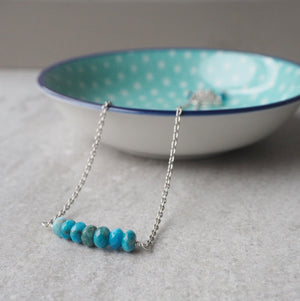 Gemstone Bar Necklace by Nancy Wallis Designs