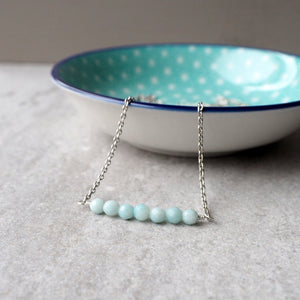 Delicate Gemstone Bar Necklace by Nancy Wallis Designs