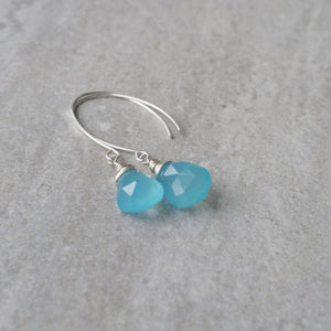 Blue Chalcedony Earrings by Nancy Wallis Designs