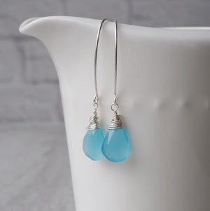 Blue Chalcedony Earrings made in Canada by Wallis Designs
