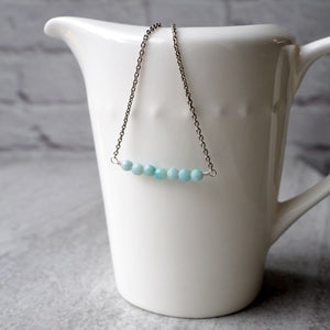 Amazonite Bar Necklace made in Canada by Wallis Designs