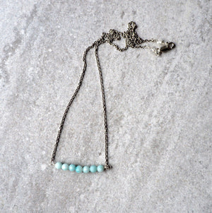 Amazonite Bar Necklace by Nancy Wallis Designs