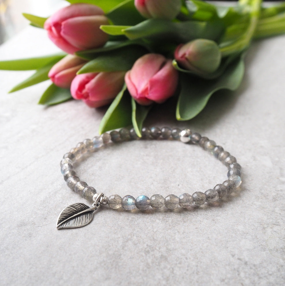 Labradorite Bracelet with Sterling Silver by Wallis Designs