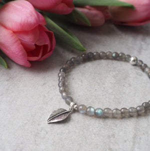 Gemstone Bracelet with Labradorite and Sterling Silver