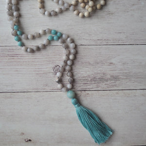 Mala Necklace Handmade by Nancy Wallis Designs