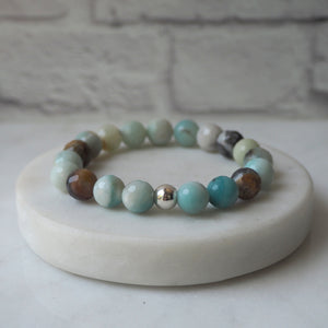 Amazonite Stone Bracelet in Mint Turquoise