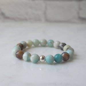 Stretch Gemstone Bracelet by Nancy Wallis Designs