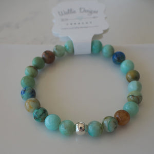 Stretch Gemstone Bracelet made in Canada by Wallis Designs